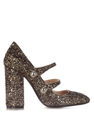 N 21 Mary Jane Glitter Heel Pumps Gold