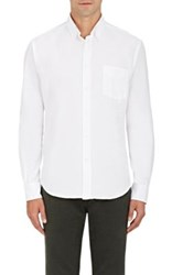 Hartford Men's Cotton Oxford Cloth Shirt White