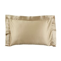La Perla Silk Nervures Pillowcase 50X75cm Sand