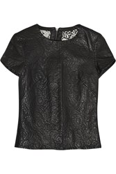 Muubaa Amador Textured Leather Top Black