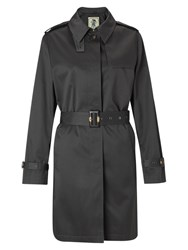 Four Seasons Single Breasted Short Trench Jacket Pewter