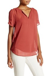 Daniel Rainn Short Sleeve Blouse Red