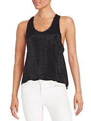 Mlv Nori Sequined Tank Top Black