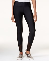 Guess Mesh Inset Leggings Jet Black