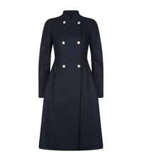 Ted Baker Indego Double Breasted Flare Coat Female Navy