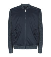 Porsche Design Contrast Sleeve Bomber Jacket Male Navy