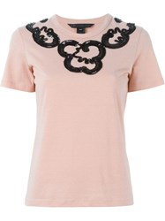Marc By Marc Jacobs Sequin Embellished T Shirt Pink And Purple