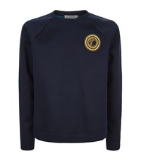 Versace Collection Logo Badge Neoprene Jumper Male