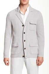 Ports 1961 Solid Cashmere Knit Cardigan Gray