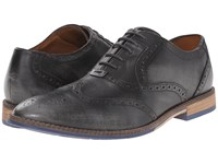 Hush Puppies Style Brogue Grey Smooth Leather Men's Lace Up Wing Tip Shoes Gray