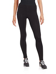 Andrew Marc New York Solid Paneled Leggings Black