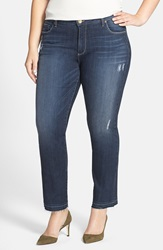 Kut From The Kloth 'Reese' Distressed Stretch Ankle Jeans Hard Plus Size