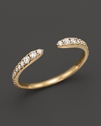 Bloomingdale's Diamond Open Band Ring In 14K Yellow Gold .35 Ct. T.W. White Gold