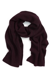 Calibrate Men's Wool And Cashmere Scarf Burg Charcoal