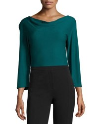 Derek Lam Knit Cowl Neck Top Green