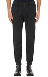 Giorgio Armani Men's Wool Trousers Dark Grey