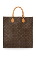 Wgaca Louis Vuitton Monogram Sac Plat Bag Previously Owned Brown