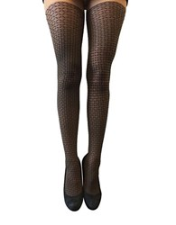 Zac Posen Red Accent Patterned Fashion Tights