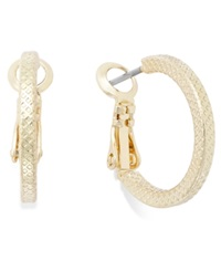 Charter Club Small Textured Hoop Earrings Gold
