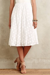 Tracy Reese Zadie Dotted Skirt White