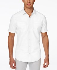 Inc International Concepts Duck Dive Short Sleeve Shirt Only At Macy's White Pure