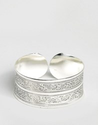 Reclaimed Vintage Concave Cuff Silver