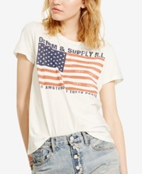 Denim And Supply Ralph Lauren Flag Graphic T Shirt