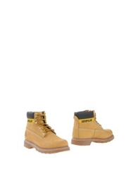 Cat Ankle Boots Ocher