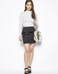 Dress Gallery Natacha Skirt With Peplum Detail Noir
