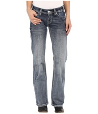 Rock And Roll Cowgirl Riding Bootcut In Light Vintage W7 7369 Light Vintage Women's Jeans Blue