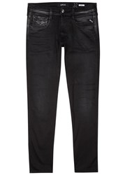 Replay Anbass Hyperflex Black Slim Leg Jeans Nearly Black