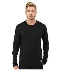 Carhartt Base Force Cool Weather Crew Neck Top Black Men's Long Sleeve Pullover