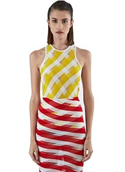 Stella Mccartney Transparent Checked Tank Top Yellow