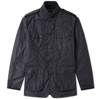 Barbour Dock Wax Jacket Blue