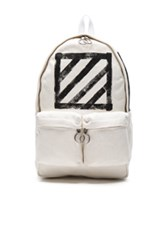 Off White Diagonals Backpack In Stripes White Stripes