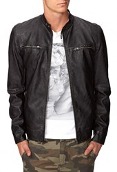 Forever 21 Faux Leather Biker Jacket Black