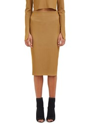 Calvin Klein Bianka Ribbed Knit Pencil Skirt Beige
