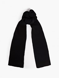 S.N.S. Herning Navy Cable Knit Real Scarf