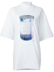 Y 3 Can Print Oversized T Shirt White