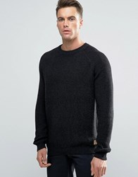 Threadbare Crew Neck Cable Knit Jumper Black