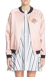 Women's Opening Ceremony Reversible Embroidered Silk Bomber Jacket