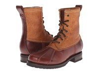 Frye Veronica Duck Boot Cinnamon Multi Smooth Pull Up Oiled Vintage Women's Lace Up Boots Brown