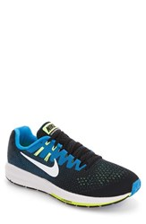Nike Men's Air Zoom Structure 20 Running Shoe Black White Phantom Green
