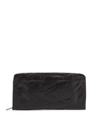 Hobo Eliza Leather Continental Wallet Black