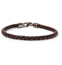 Mulberry Woven Leather Bracelet Black