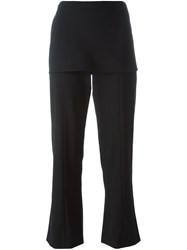 Giorgio Armani Apron Flared Trousers Black