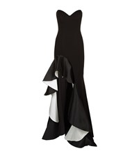 Jovani Ruffle Detail Gown Female Black
