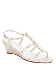 Caparros Sullivan Wedge Sandals Gold