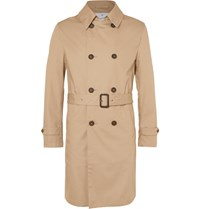 Kingsman Mackintosh Cotton Trench Coat Neutrals