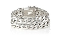 Sidney Garber Women's Double Strand Curb Chain Bracelet No Color